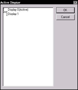 Optical Fiber - Figure 14 Active Display dialog box