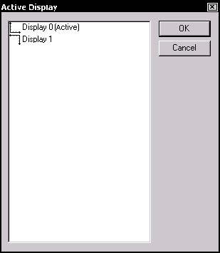 Optical Fiber - Figure 14 Active Display dialog box