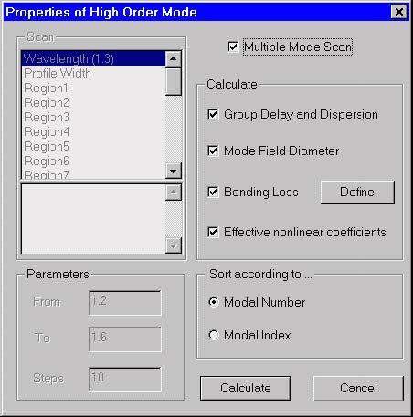 Optical Fiber - Properties of High Order Mode